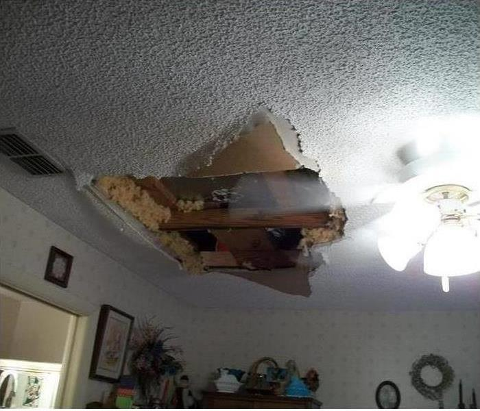 Ceiling Damage from Rain Storm