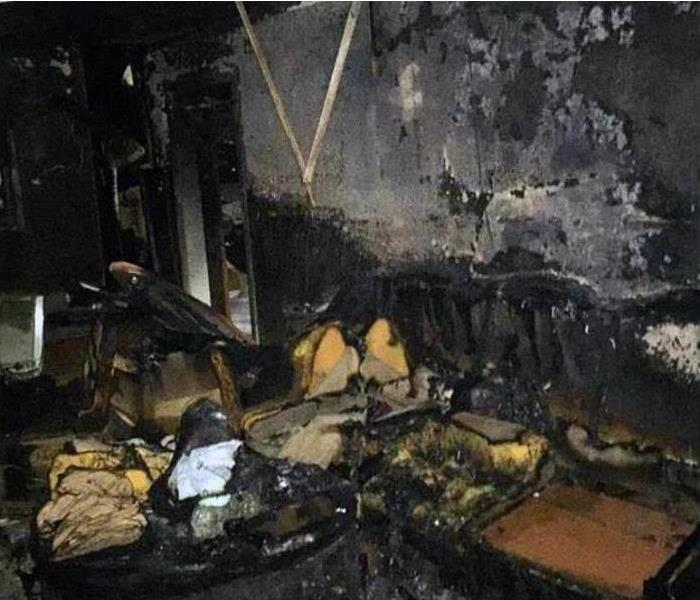 Burned Interior of a Home